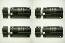 4 Pack - Vault Barrel Bolt with Built-In Combination Lock