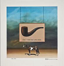 Robert Deyber - The Paint Horse: Magritte, Lithograph