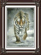 Counted Cross Stitch Kit - Tiger King - free shipping