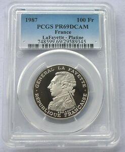 France 1987 La Fayette PCGS PR69 100 Francs Platinum Coin,Proof