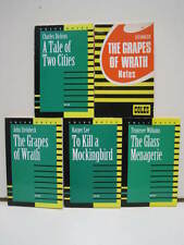 Coles Notes Novels, Lot of 5 Books