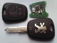 GENUINE PEUGEOT 206 306 ETC (RF FULLY WORK) 2 BUTTON REMOTE ALARM UNCUT KEY FOB