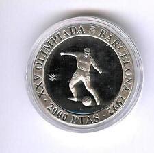 2000  Ptas  Olympiade Barcelona  1990 Fusball