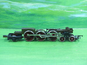Hornby Class A4 loco 4-6-2 rolling chassis with maroon wheels