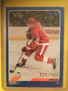 PAVEL DATSYUK 2003-04 O-Pee-Chee OPC Blue Parallel #61 Red Wings #/500