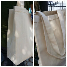 """1 Gusseted canvas tote bag, 12oz canvas plain tote, 22"""" long handle, diy tote"""