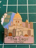 Classic Star Trek TV Series Pilot Episode The Cage Cloisonne Metal Pin 1990 NEW