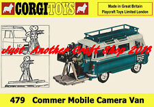 Corgi Toys 479 Commer Mobile Camera Van Poster A4 Size Shop Display Sign Leaflet