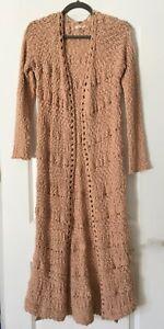 Morning Apple Duster Open cardigan sweater L Women Blush Texture Full Length