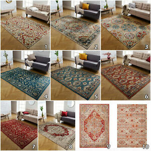 Traditional Rug Luxury Vintage Style  Small Medium Large Rugs Carpet Mat Runner
