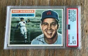 1956 Topps #75 Roy Sievers Senators PSA 6 EX-MT