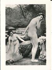 Nr,31829  kleines Akt Foto schöne nackte Frau Busen Erotik 6 x 8,5 cm  um 1945