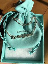 Tiffany & Co Silver ERA LOVE Cube Necklace Pendant Charm 18 Inch Chain Classic