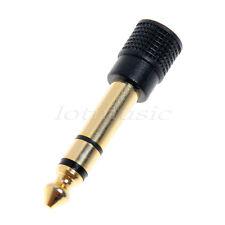 1/4 Male Stereo To 3.5mm 1/8 Female Stereo Audio Headphone Mic Plug Adapter Jack