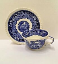 """Mason's  VISTA-BLUE Cup and Saucer Set (2 1/4"""") More items available"""