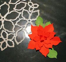 NEW 'Poinsettia' Christmas Cutting Die Set - 8pcs 🎄
