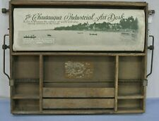 Antique Chaupauqua Art Desk Lewis E Myers Child'S Wooden Fold Out