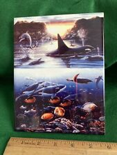Ceramic tile Sea Life Awesome 6x8decor Wall/hotplate/backsplash Whales/dolphin