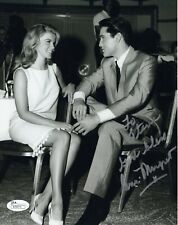 ANN MARGRET HAND SIGNED 8x10 PHOTO     GREAT POSE WITH ELVIS     TO STEVE    JSA