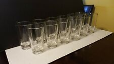 (12) RARE TUMBLER GLASSES WITH INDENTED GOLF BALL BOTTOMS - MUST HAVE BARWARE