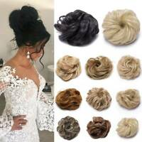 100% Real Messy Bun Scrunchie As Human Hair Extensions Chignon Blonde Hairpiece