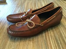 COLE HAAN Mens Brown Leather Moc  Loafers Sz 11
