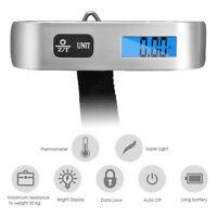50kg Digital bleue Pèse Bagage Electronique Portable Balance Numérique