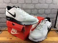 NIKE MENS UK 10 EU 45 AIR MAX SEQUENT 4.5 WHITE BLACK RUNNING TRAINERS RRP £95 C
