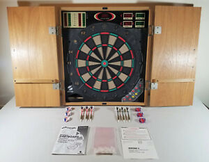 Electronic Dartboard by Sportcraft with Cabinet and Soft Tip Darts