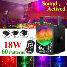 60 Muster Laser Projektor Licht Bühnenlicht RGB LED Party DJ Disco Show Lampe