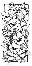 Unmounted rubber stamp Floral Panel