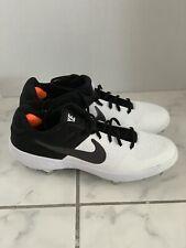 Nike Alpha Menace 2Mens Black Metal Baseball Cleats Size 13 Aj6873-102