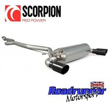 "Scorpion BMW M135i Exhaust 3"" Cat Back System Non Resonated Black Tails SBM066C"