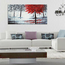 Red Forest Canvas Modern Home Wall Decor Art Painting Picture Print No Frame