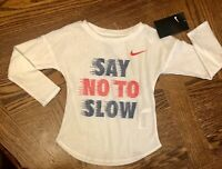 NWT Toddler Girls NIKE Long Sleeve Top Shirt Size 3T 3 NEW Sparkle White