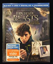 Fantastic Beasts and Where to Find Them (Blu-ray+Dvd+Digital HD+Coloring book)