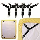 4X. Triangle Bed Mattress Sheet Clips Grippers Straps Suspender Fasteners-Holder