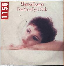 """SHEENA EASTON - For your eyes only - VINYL 7"""" 45 LP ITALY 1981 VG+ COVER  VG-"""