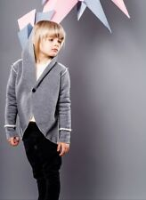 Boys hooded frock Coat 4/5. 6/7