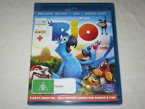 Rio - 2 Disc - Region B - VGC - Blu Ray