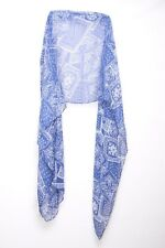 Navy Blue & Off White Pretty Paisley Print Everyday Wear Casual Wrap Scarf s104