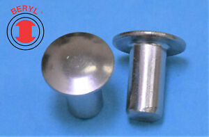 """Stainless Steel Oval Head Solid Rivets - 3/32""""X5/32"""" OHSR332532 - 100pcs"""