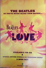 The Beatles - Love Album - Rare Original Promo Poster - 30x20 Inches