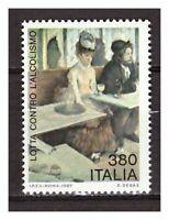 s17773) ITALIA MNH** 1987 Alcolismo 1v