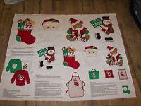 V.I.P. Screen Print Cranston Print Works  Merry Christmas Appliques Fabric Panel