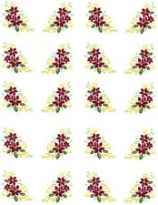 Poinsettia Strand / Christmas  Waterslide Nail Decals/Nail art