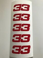 5 pcs stickers Max Verstappen number 33 (Formule 1)