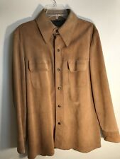 Vintage Suede Mens Shirt Jacket By William Barry -Roustabout