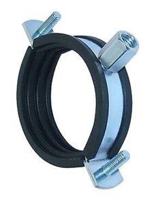 """8"""" 200mm Suspension Support Split Clip Bracket Rubber Liner Spiral Metal Ducting"""