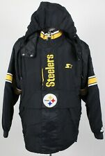 Pittsburgh Steelers Vintage Starter Pro Line Insulated Pullover Jacket Medium